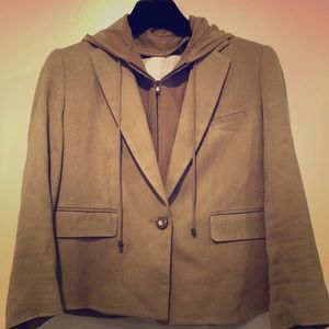 Veronica Beard Camel jacket/zip out lining/hood